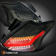 15-16 Ford Focus 5Dr Hatchback Full LED Smoke Tail Lights Brake Lamps Pair