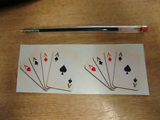 "2x Small  ""4 Aces"" custom Sticker/ Decal - faded/aged colour - playing cards"