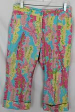 Vintage White Label Lilly Pulitzer Dragonfly Capri Pants Size 2 - Very Nice