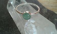 Beautiful Handmade 925 Sterling Silver Green Aventurine Gem Set Ring All Sizes