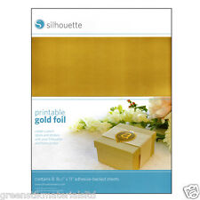Silhouette Inkjet Printable Self Adhesive Gold Foil - Portrait Cameo 2 &  Curio
