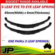PAIR 6 LEAF EYE TO EYE TRAILER SPRINGS. 45MMX6MM TRAILER PART. 1000KG. CARAVAN
