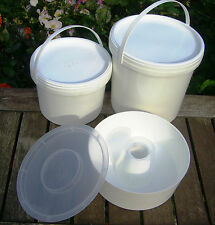 3 x Beekeeping Bee FEEDERS - Rapid, 2.5 litre and 5 litre contact bucket feeders