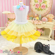 ☆╮Cool Cat╭☆171.【PD-05】Blythe Pullip Tulle Cake Skirt # Multi-Colored Yellow