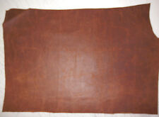 """Soft Western Brown Cowhide Leather Scrap 11""""x15"""" avg .6mm thick #550"""