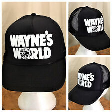 Vintage 90's Wayne's World Saturday Night Live SNL Snapback Trucker Hat Black