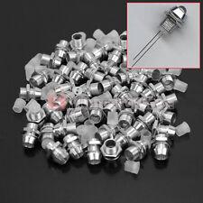 50 Set Porta LED 5mm Montante Portaled Supporto Cromato Metallo Riparazione