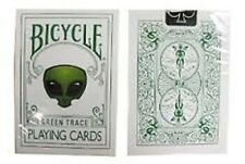 Rare Bicycle GREEN TRACE Deck Playing Cards Magic Outline alien outer space new