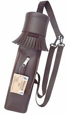 SYNTHETIC LEATHER BACK SIDE YOUTH QUIVER ARCHERY PRODUCTS SAQ-140 BROWN