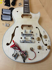 E-239DIY Les Paul Semi-hollow Electric Guitar DIY Kit,F holes,Complete No-Solder