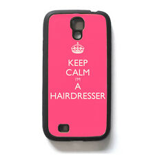 Keep Calm I'm A Hairdresser Samsung Galaxy S4 Rigid Rubber Protective Case