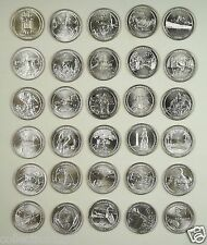 United States America National Park Quarters Coins Set of 30 Pieces 2010-2015