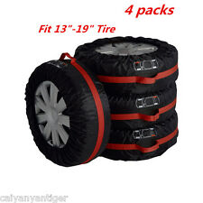 "Car SUV Spare Tire 13""-19""Tyre Protection Cover Storage Bag Carry Tote Cover 4pc"