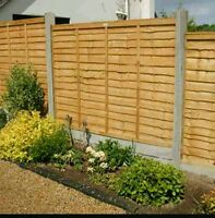 Wooden fence panel/larch lap  waney 6ftx5ft