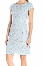 Alex Evenings Cap sleeve Tiered Hem Sequined Sheath Dress Size 6Petite
