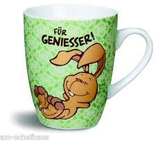 Nici Fancy Mug Tasse FÜR GENIESSER! Hase Becher Spülmas. Mikrow. Geschenk 37224