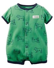 NWT Carters Boy's Snap-Up Romper Bulldog Daddy's Little Hunk 3 Months Creeper