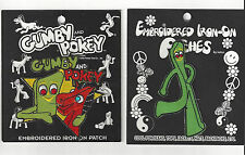 Gumby & Pokey Patch PAIR Iron Or Sew New Hats Caps Jeans Jackets Backpacks