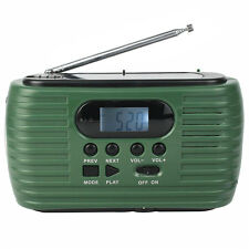New FM/AM Radio Hand Crank Solar Emergency Radio MP3 Flashlight Phone Charger YS