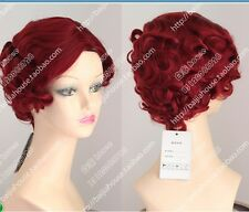 NEW  red short  curly   cosplay  Hot plasma  wig PARTY WIGS