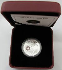 2012 Proof $3 Birthday June 9999 silver w/ Alexandrite crystal Birthstone Canada