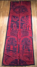 Antique Masonic Freemason Wool Ingrain Carpet Rug Textile Scottish Rite Occult