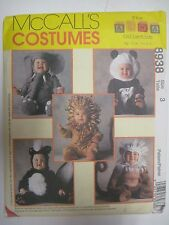 McCall's 8938 TOM ARMA Costume Sewing Pattern Child LION MONKEY Skunk Elephant