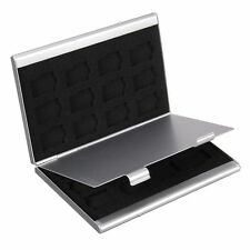 Style SD Card Holders 24TF Micro Memory Card Case Silver Storage Box Aluminum