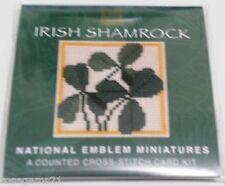 IRISH SHAMROCK -Cross Stitch Card KIT- Textile Heritage