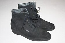 Mephisto Air Jet Black Leather Lace up Ankle Boots, Women Size 9.5 US, Nice