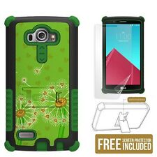 Tri Shield Phone Case for LG G4 w/ kickstand & screen protector - Dandelions