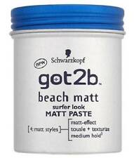 ** SCHWARZKOPF GOT2B BEACH MATT SURFER LOOK MATT PASTE 100ml NEW **