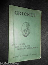The Game of Cricket as it Should be Played - JACK HOBBS, c1940s Sport/Cricketing