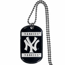 New York Yankees Metal Tag Necklace MLB Licensed Baseball Jewelry