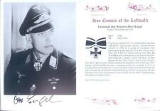 SPGL22 German Luftwaffe Condor Legion photo signed ENGEL KC