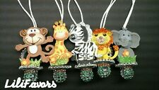 """12 pcs Jungle Animals Pacifier Necklaces for """"Don't Say """"Baby Shower game Favors"""