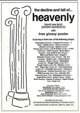 """NEWSPAPER CLIPPING/ADVERT 1/10/94PGN43 7X5"""" THE DECLINE AND FALL OF HEAVENLY"""
