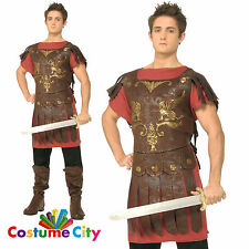 Adults Mens Roman Gladiator Ancient Greek Warrior Fancy Dress Party Costume