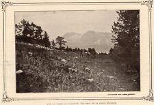IMAGE VERS 1900 PRINT 38 MASSIF DU TAILLEFER VUE PRISE DE LA ROCHE BERANGER