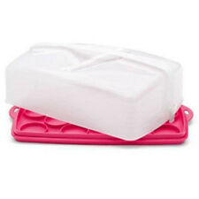 Tupperware rectangle cake taker (brand new - never used) - bubblegum pink
