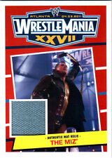 WWE The Miz 2012 Topps Heritage WrestleMania 27 Event Used Mat Relic Card DWC
