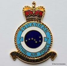 RAF 7 Squadron DANBURY MINT Blank Badge -24ct Gold Detail 1970s Royal Air Force