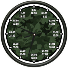 MILITARY TIME Wall Clock army navy marine air force time timing  gift