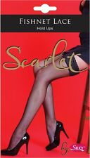 HOLD UPS FISHNET LACE TOP AV IN BLACK RED WHITE OR NUDE