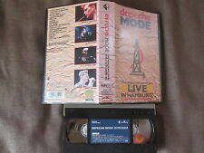 DEPECHE MODE The World We Live In & Live In Hamburg JAPAN VHS VIDEO w/PS BVVP102
