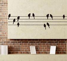 Bird Powerline Wall Sticker Decal Art Transfer Graphic Stencil Vinyl Home