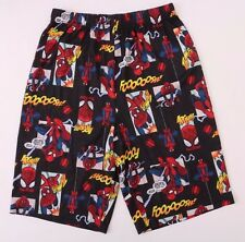 Marvel Comics The Ultimate Spider-Man Kids Boys Sleepwear Black Shorts  Size 8