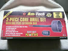 Amtech 2pc Heavy Duty Core Drill Set Extension Bar SDS Shank,110mm, 50mm Drills