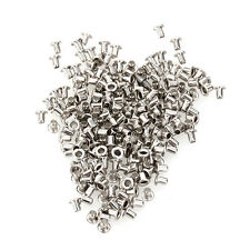 Set 200 Eyelets Grommets Silver 1.5mm for Leathercraft Shoes Belts Bags Clothes
