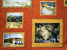 CLEARANCE FQ LANDSCAPE PICTURES FRAMES WALL ART TREES FABRIC